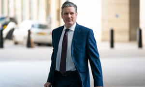 Newly-elected Labour leader Sir Keir Starmer arrives at BBC Broadcasting House in London to appear on the Andrew Marr show