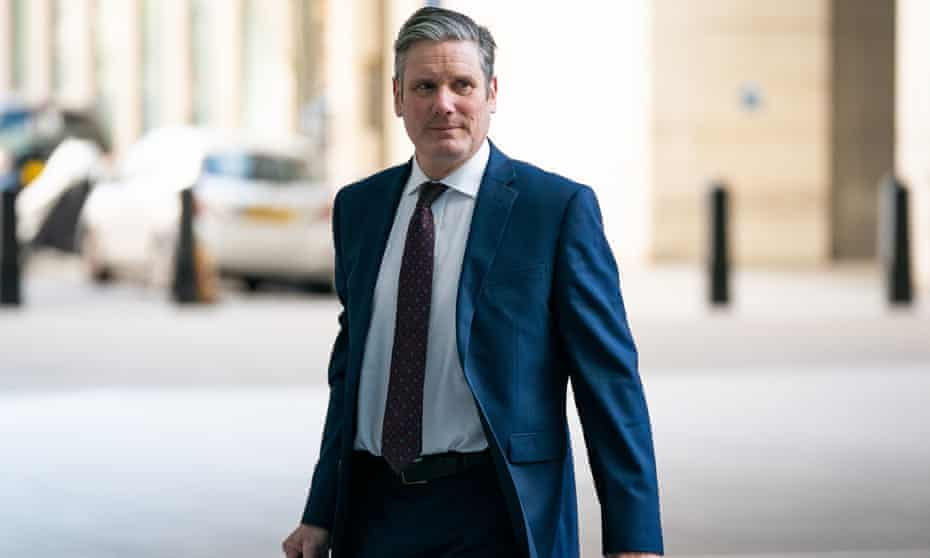 The Andrew Marr ShowNewly-elected Labour leader Sir Keir Starmer arrives at BBC Broadcasting House in London to appear on the Andrew Marr show. PA Photo. Picture date: Sunday April 5, 2020. See PA story POLITICS Labour. Photo credit should read: Aaron Chown/PA Wire
