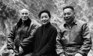 Chinese leader Chiang Kai-shek (left) with his wife and their son, Chiang Ching-kuo, circa 1955.