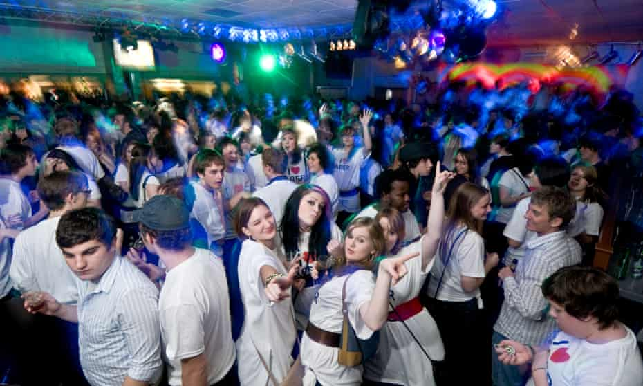 packed student party