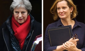 Theresa May (left) and Amber Rudd