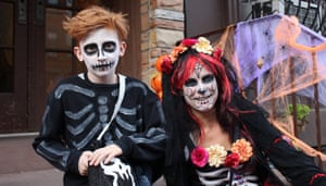 Trick or Treaters in the Park Slope area of New York.