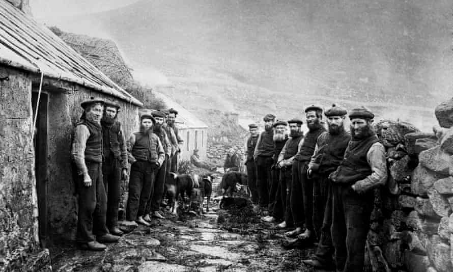 Inhabitants on the island of St Kilda, in the Outer Hebrides, were evacuated in 1930.