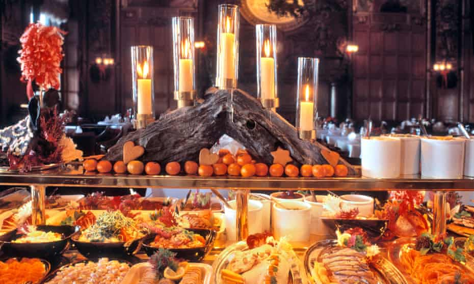 Swedish julbord buffet