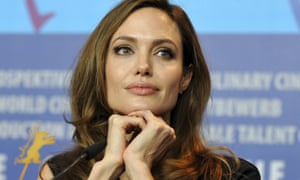 One of the few female directors working in Hollywood, Angelina Jolie at a 2012 Berlin news conference to promote her film The Land Of Blood And Honey.