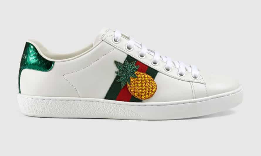 Gucci pineapple trainers