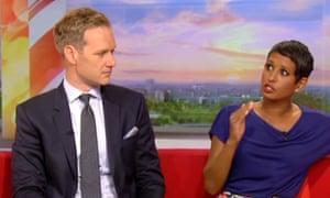 BBC Breakfast hosts Dan Walker and Naga Munchetty.