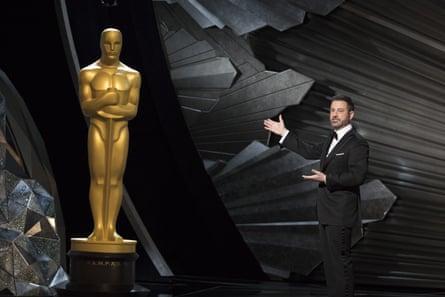 Jimmy Kimmel hosting the Oscars.