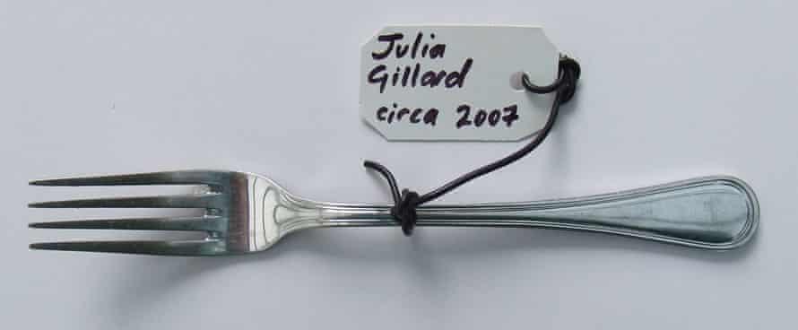 A fork used by the former Australian prime minister Julia Gillard (circa 2007)