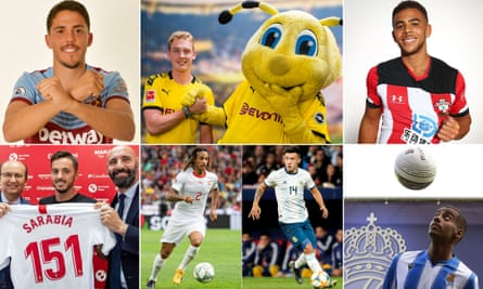Pablo Fornals, Julian Brandt, Che Adams, Alexander Isak, Lisandro Martínez, Kevin Mbabu and Pablo Sarabia.