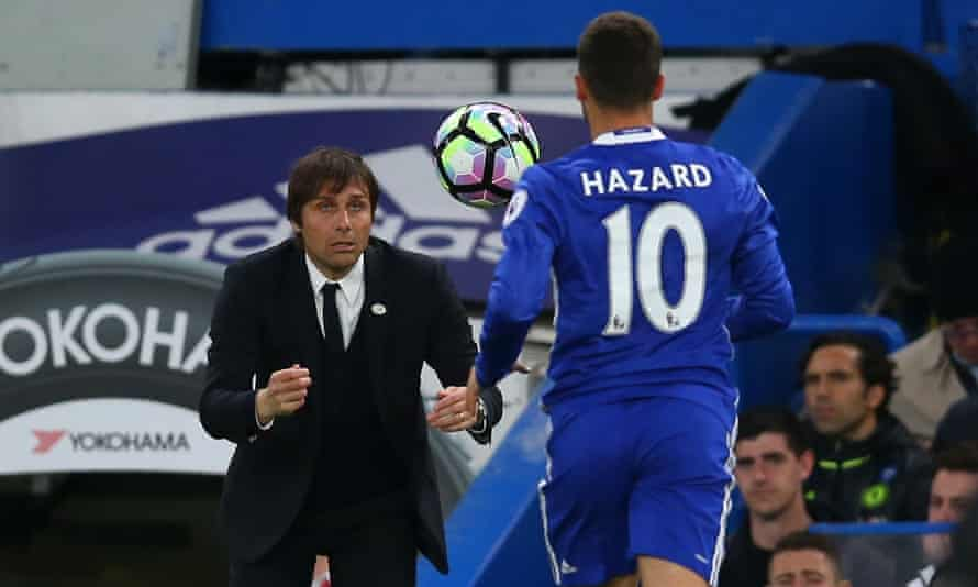 Eden Hazard spoke in March of how 'automisation' was the biggest difference Conte had made to Chelsea since arriving at the club last summer and following a season of turmoil for the London club