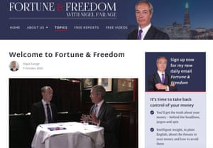 Nigel Farage has revealed Fortune & Freedom, his new subscription newsletter.