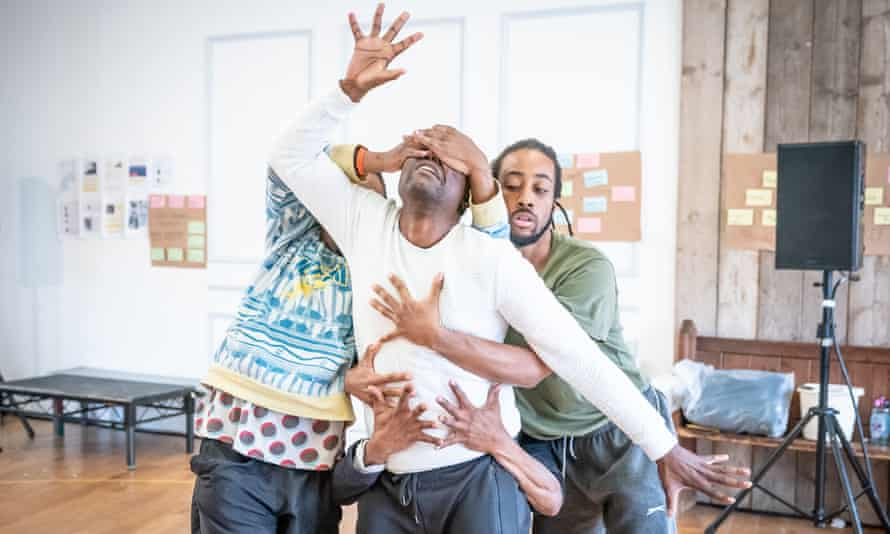 Physical theatre … rehearsals for Tree.