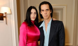 The Vampire's Wife designer, Susie Cave, with her husband, the musician Nick Cave.
