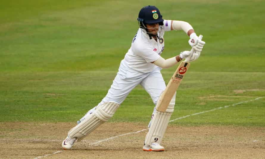 Shafali Verma made 96 in the first inning for India and then 55 did not go out in the second as they continued.