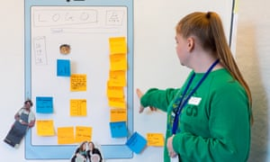 Student presents App ideas in UX workshop at Digital Development's Ada Lovelace Day at the GNM Education Centre.