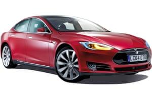 A Tesla S electric car