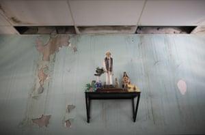 Altar in run-down hospital