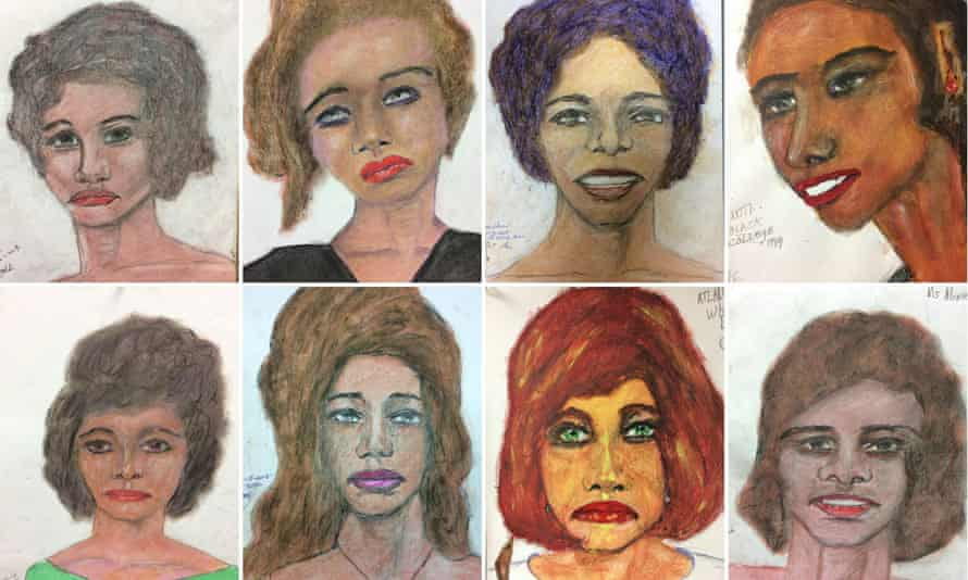 Sketches released by the Federal Bureau of Investigation are based on Samuel Little's memories of some of his victims.