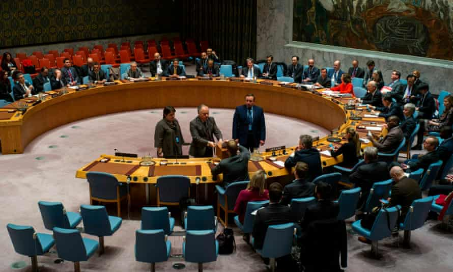 UN security council members vote for prospective members in New York.