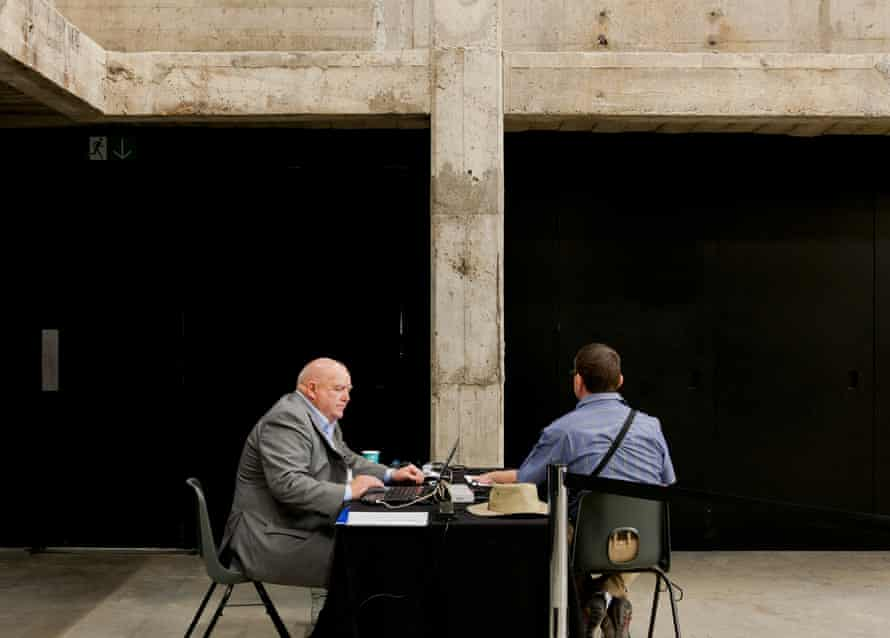 Immigrant Movement International, a 2012 performance work in Tate Modern's Tanks.
