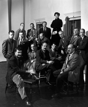 Hedda Sterne, top, the only woman in a portrait of New York School painters, including Jackson Pollock and Willem de Kooning, in the 15 January 1951 edition of Life magazine.