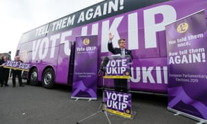 Gerard Batten launches Ukip's EU election campaign and battlebus in Middlesbrough last week.