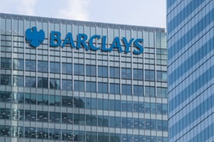 Barclays Bank Headquarters in Canary Wharf.
