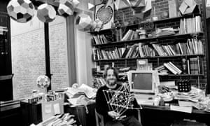 John Horton Conway in his office at Princeton University in 1993. He had an extrovert Pied Piper persona, and his classes were invariably oversubscribed.
