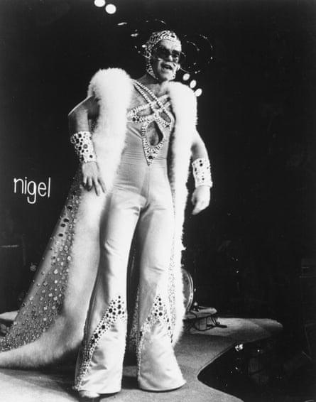 'I told Rod Stewart to turn the role down': Elton John in rock opera movie Tommy (1975).