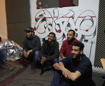 Hip-hop group Sa'aleek, from the Qalandia refugee camp in Palestine.