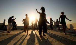 Dancing at Tao's Center, Paros, Greece