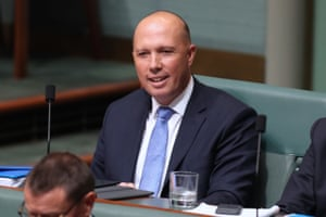 There's that smile again:  Peter Dutton on Wednesday.
