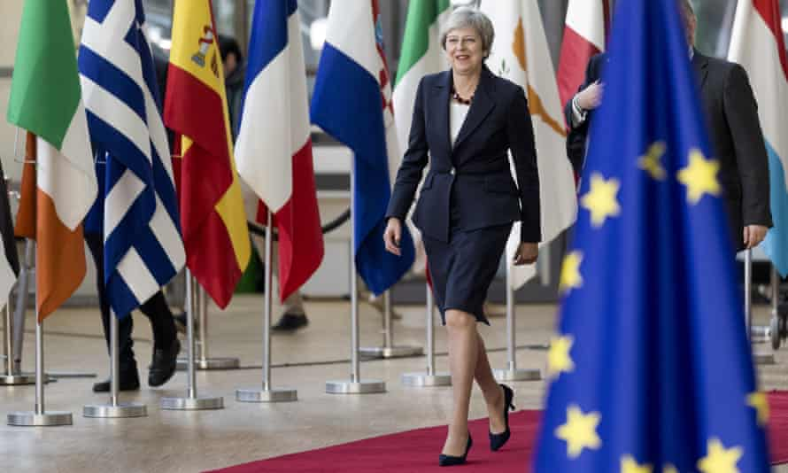 May arriving for EU summit