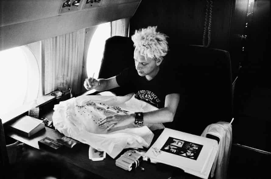 Martin Gore on route to LA, 1988.