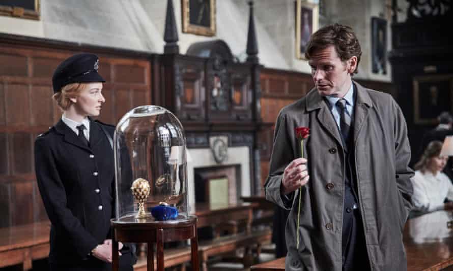 Dakota Blue Richards as PC Trewlove and Shaun Evans as DS Morse