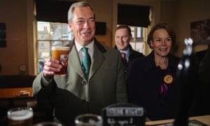 Nigel Farage enjoys a pint