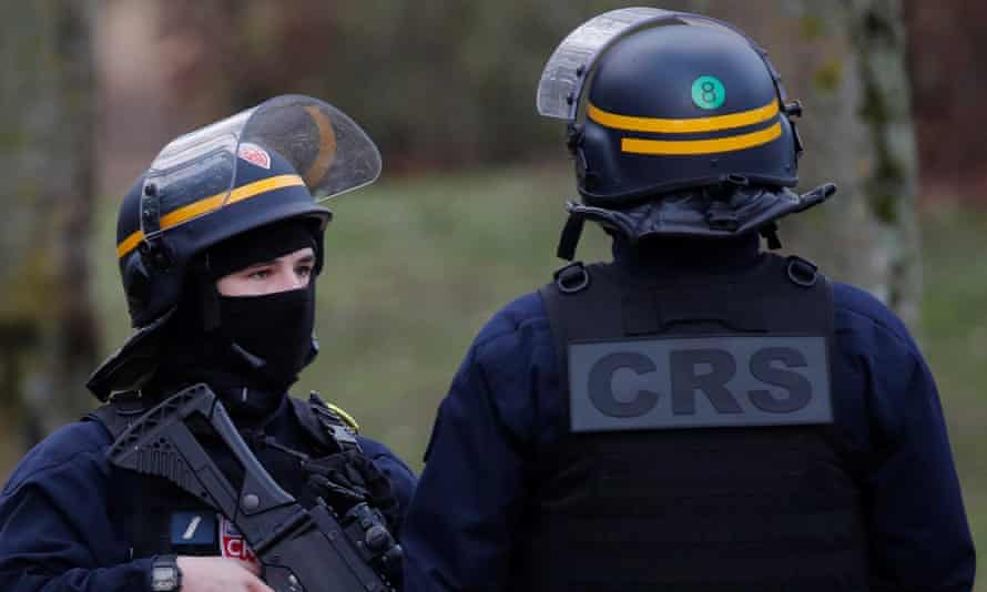 French police officers in Villejuif, Paris