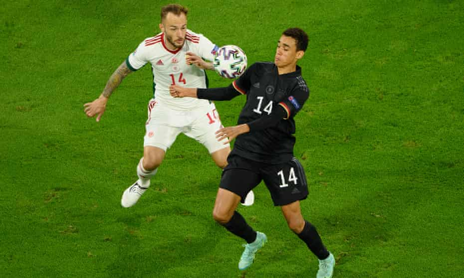 Jamal Musiala, who represented England at youth level, inspired Germany when he came on as a substitute against Hungary.
