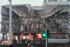 'Solidarity' bas-relief Minsk, BelarusBuilt in 1979 Designer: A. Artimovich: This panel depicts residents of the Soviet Union, China, Vietnam, India, Palestine, Chile, Cuba and Angola, marching in defence of human rights and freedom.