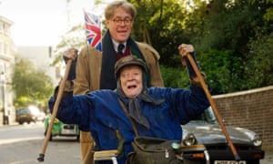 It had to be here … Maggie Smith and Alex Jennings on location for The Lady in the Van.