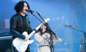 Jack White on the Pyramid stage at Glastonbury in 2014.