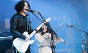 Onstage at Glastonbury, 2014.