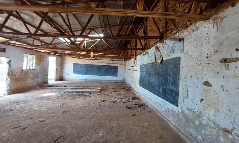 An abandoned classroom in Uganda