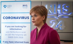 Nicola Sturgeon during a visit to the NHS 24 contact centre at the Golden Jubilee National hospital in Glasgow today.