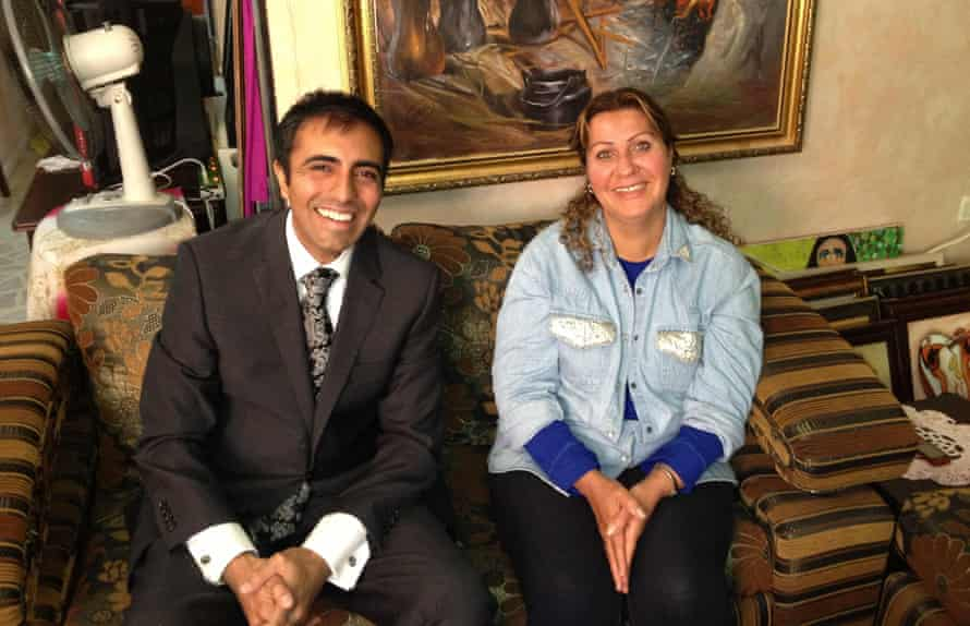 San Francisco lawyer Inder Comar with Sundus Shaker Saleh at her home in Jordan in May 2013