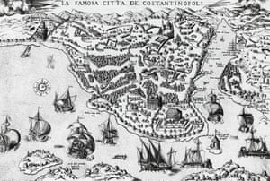 A 16th-century engraving of Constantinople.