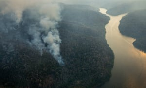 Forest fires in the indigenous lands in Arariboia, Maranhão, Brazil, in 2015.
