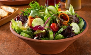 Eat hydrating foods such as salad.