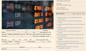Example of  online FT article with missing words